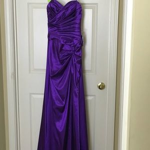 Cinderella Dresses - Cinderella Design _Royal Purple Satin Gown